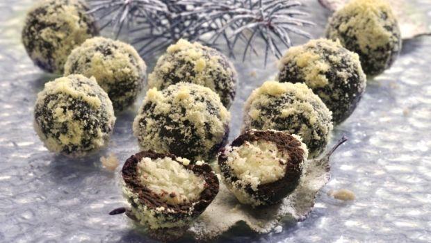 Čokoládové kuličky s bílou náplní