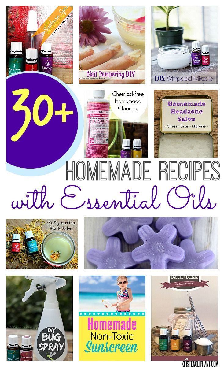 Replace toxic chemicals in your home with these great DIY recipes using essential oils.  #essentialoils #oilyfamilies