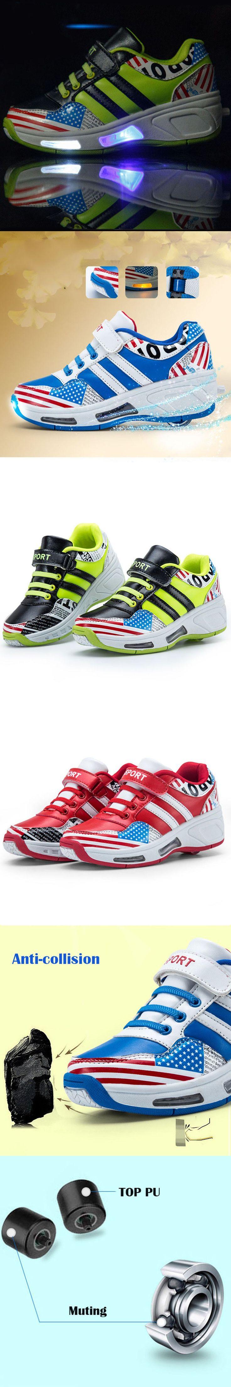 Led Light Heelys Children Shoes with Wheels Kids Roller Shoes Sneakers for Boys Girls Sneaker tenis infantil chaussure enfant
