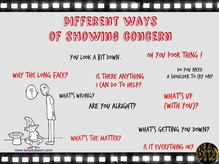 Different ways to show concern, ESL, English