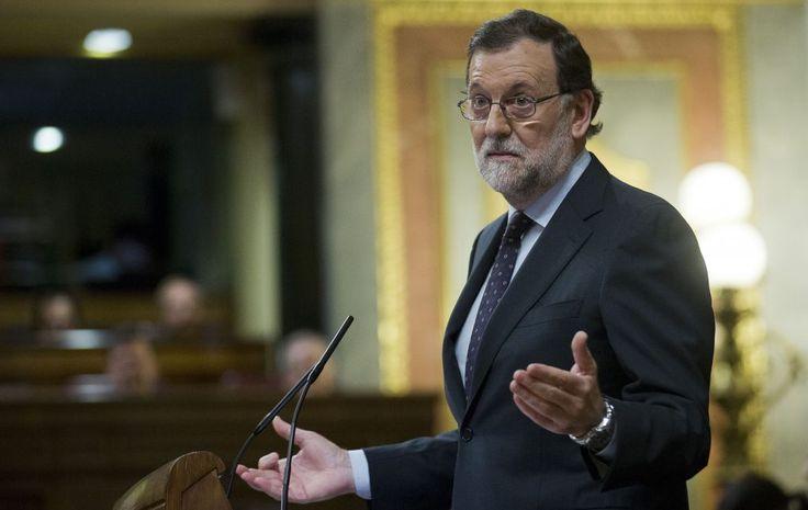 Rajoy y la 'Gürtel'. Mariano Rajoy en la tribuna del Congreso de los Diputados en mayo de 2016.