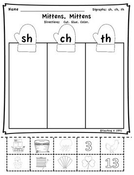 winter digraphs activities bundle sh th ch wh kindergarten reading teaching activities. Black Bedroom Furniture Sets. Home Design Ideas