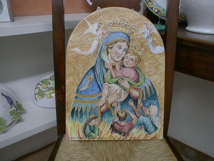 """pannello dipinto """"La Madonna del Carmine"""""""