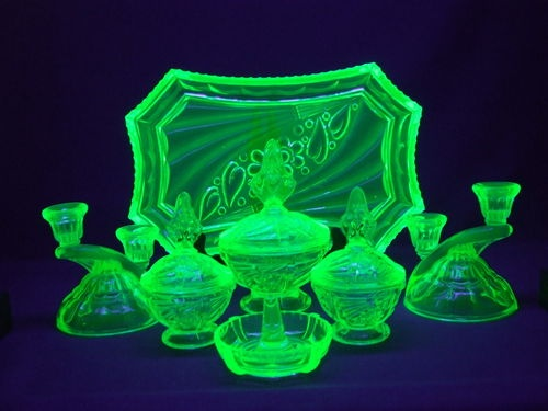 17 Best Images About Uranium Glass On Pinterest Glass Vase Oil Lamps And Glasses