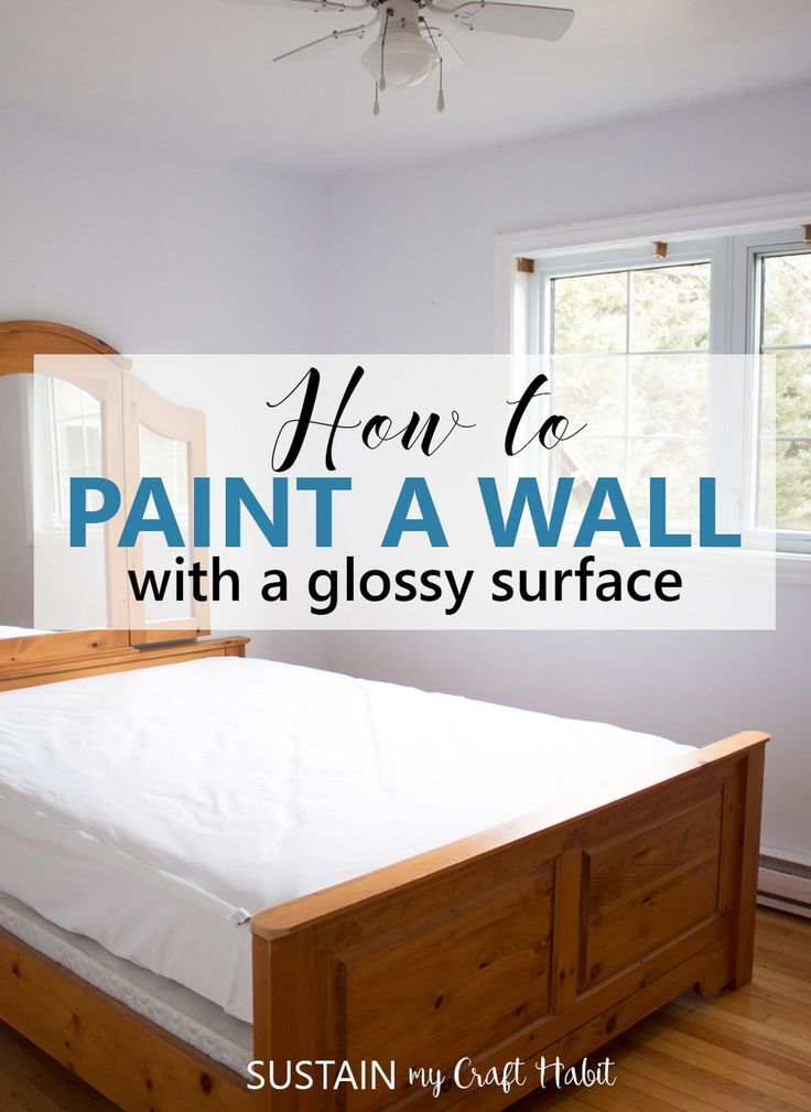 Learn how to paint a wall with a glossy surface. Great tutorial if you are using latex paint on a wall with an unknown surface finish.