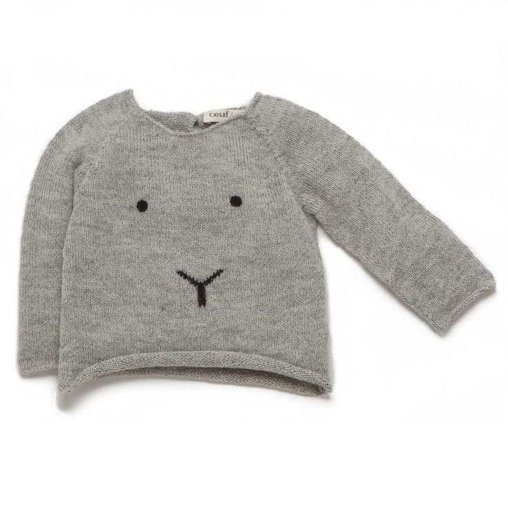 Bunny sweater in light grey/black - Dang it: why is this only