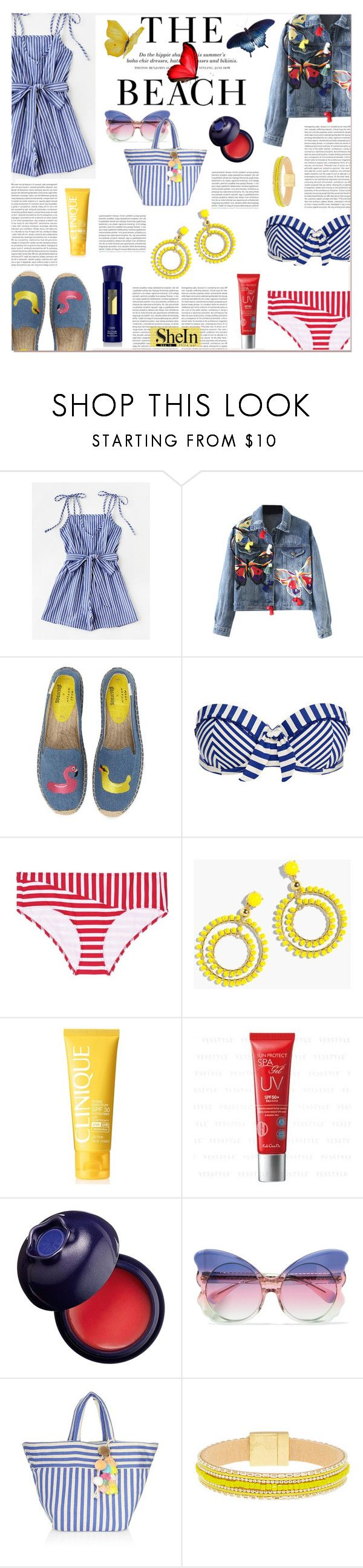 """WIN SHEIN $30 COUPON"" by ztugceuslu ❤ liked on Polyvore featuring WithChic, Soludos, Paolita, Araks, H&M, J.Crew, Clinique, Koh Gen Do, Charlotte Russe and Matthew Williamson"