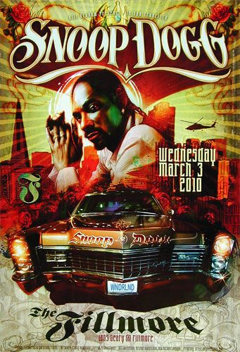 Snoop Dogg - The Fillmore #gig #poster