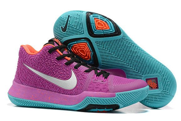 new concept 38ef0 8f86f Mens Original Nike Zoom Kyrie 3 Basketball Shoes Easter Collection Purple  Orange Black Silver