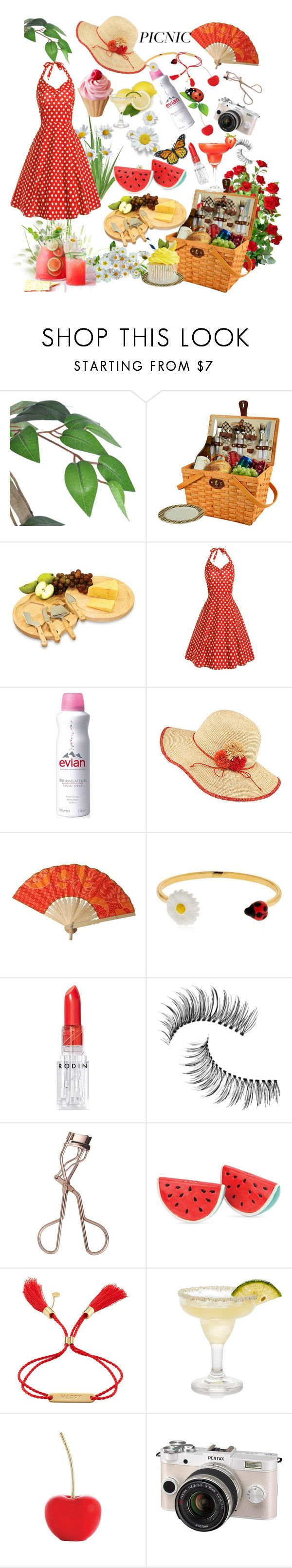 """""""Romamtic Picnic ♡"""" by jannatqtr ❤ liked on Polyvore featuring Picnic at Ascot, Picnic Time, Evian, Frontgate, Nach, Rodin, Trish McEvoy, Sunnylife, Chloé and Pentax"""