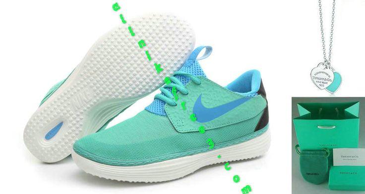 Nike Solarsoft Moccasin Mesh Tiffany Blue Glacier Blue Black 555301 340