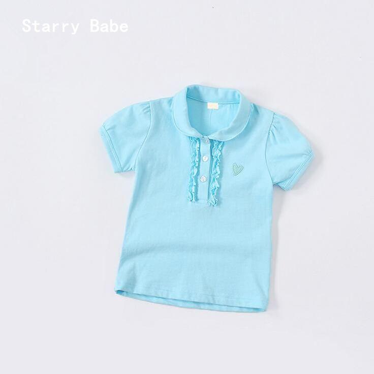$7.59 (Buy here: https://alitems.com/g/1e8d114494ebda23ff8b16525dc3e8/?i=5&ulp=https%3A%2F%2Fwww.aliexpress.com%2Fitem%2F4Color-Children-Turn-down-Collar-T-Shirt-Heart-Embroidery-Girls-t-shirt-Cotton-Tops-Polo-Shirts%2F32798510884.html ) 4Color Children Turn-down Collar T-Shirt Heart Embroidery Girls t-shirt Cotton Tops Polo Shirts Baby Summer Shirt 90-130cm for just $7.59