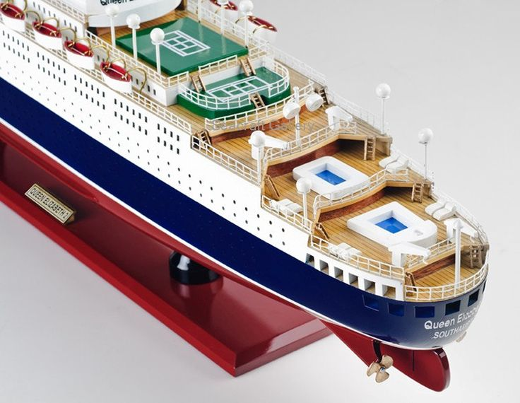 Handcrafted Queen Elizabeth 2 Cruise 80cm Model cruise ships Ocean Liners by SeacraftGallery on Etsy