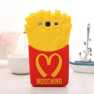 Moschino French Fries Silicone Case for Samsung Galaxy S3/i9300