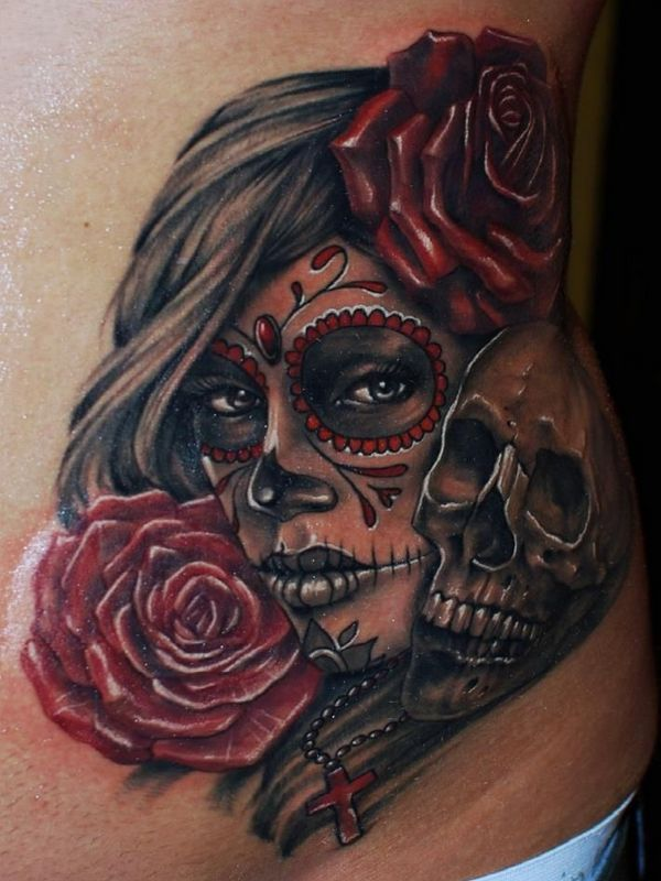 25 best ideas about day of dead tattoo on pinterest for Day of the dead skull tattoo