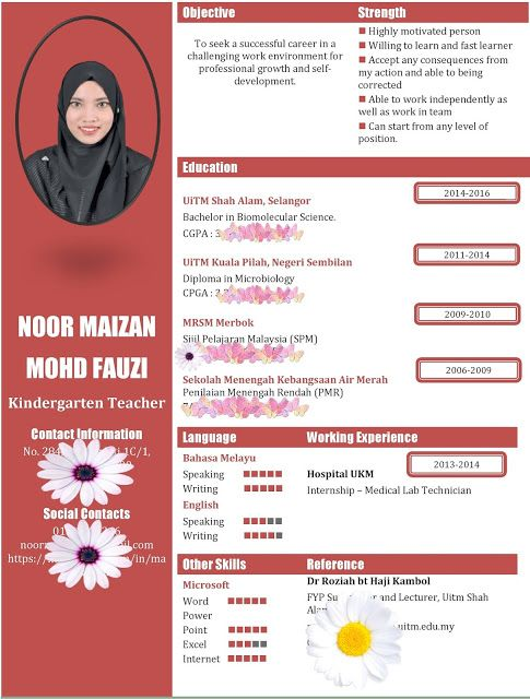cv template for internship
