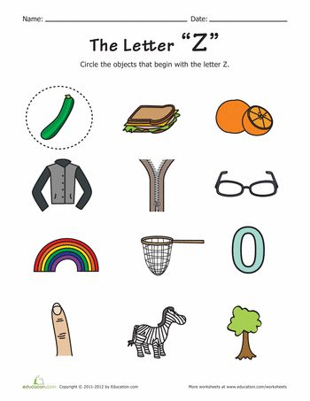 things that start with z | the abcs of kindergarten | pinterest