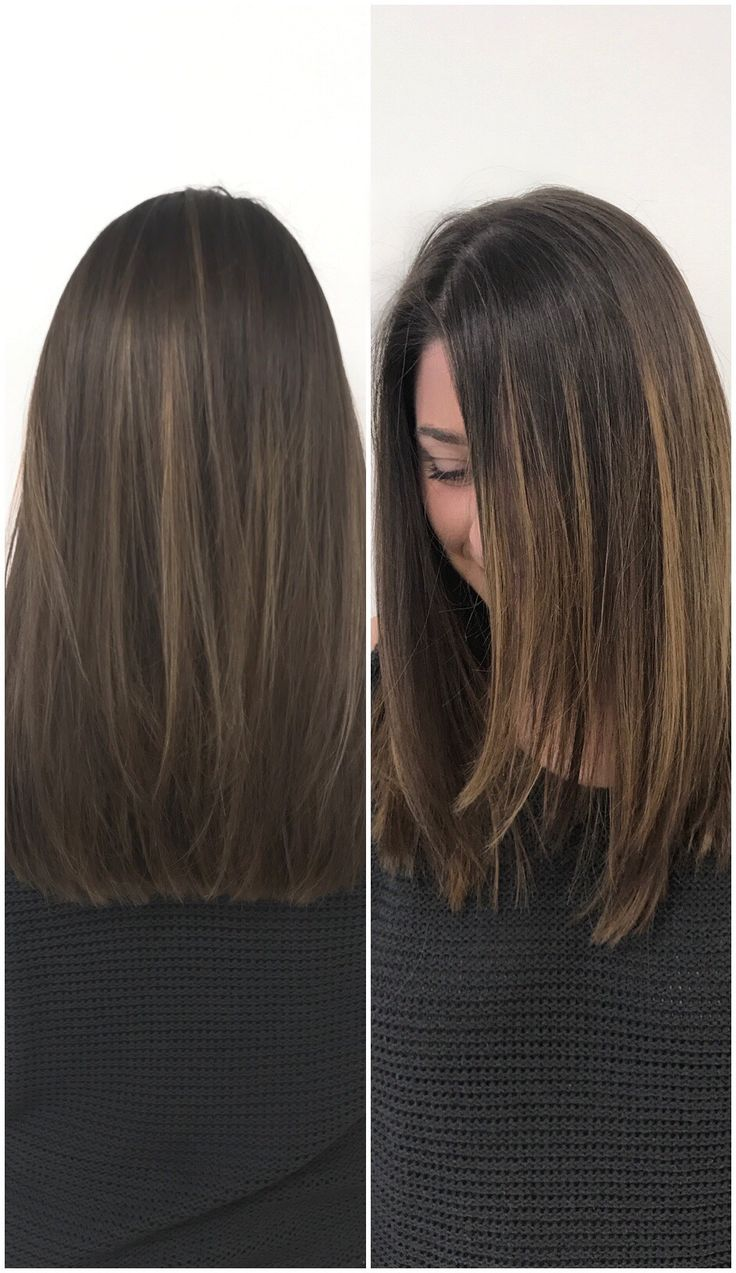 The perfect fall haircut and color for medium length brown hair. So happy with it.