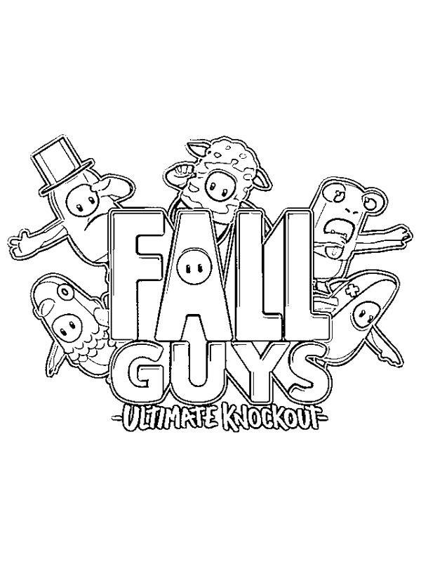 Ausmalbild Team Fall Guys Ausmalen Bilder Zum Ausmalen Ausmalbild