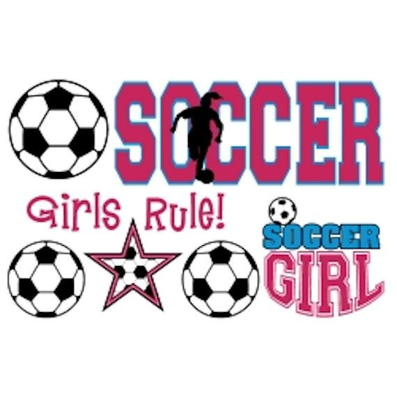 soccer girl clipart  Olee Kids Girls Soccer Sports Pack Peel and Stick - Wal...