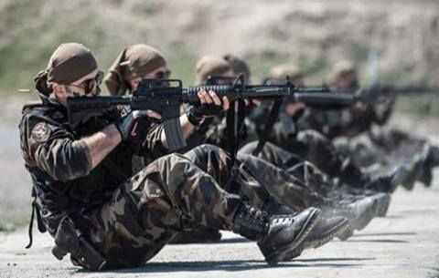 Turkish Police Special Operation Teams (POH) members at a shooting range.
