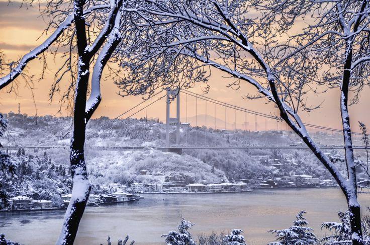 Snowy Istanbul..by Eytan Sonsino (A beautiful snowy morning in Istanbul from Emirgan.)