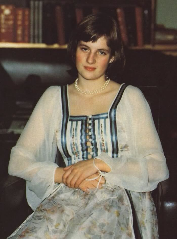 Lady Diana Spencer in her night gown