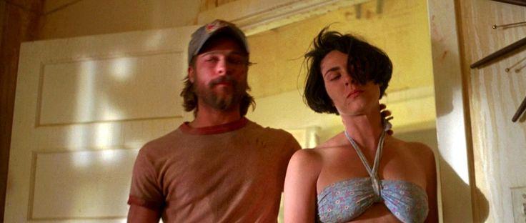 Brad Pitt & Michelle Forbes in, 1993 movie  Kalifornia hotflick.net
