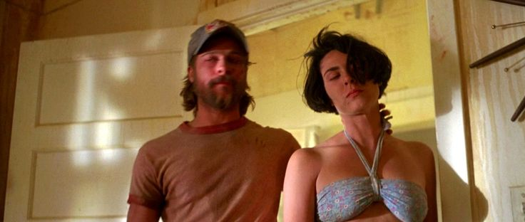 Brad Pitt & Michelle Forbes in, 1993 movie  Kalifornia hotflick.net