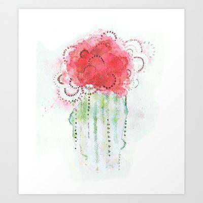 Cactus Watercolor Art Print by Melani Huggins - $20.00 Want. LOVE!
