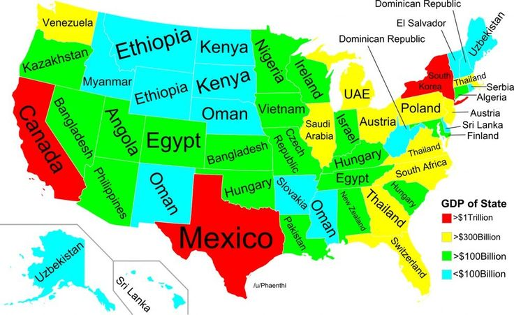 What The US Map Would Look Like Redrawn By Population - Map of the us with state size based on population