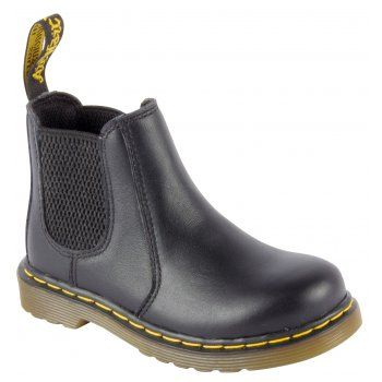 The Banzai boot takes Dr Martens classic Chelsea boot silhouette and makes it mini for smaller feet! Crafted in a lightweight, Full-Grain leather, these Boots are built for maximum Comfort and Durability. Let your little rebels stamp around all day on our signature air cushioned sole. http://www.marshallshoes.co.uk/childrens-c20/dr-martens-kids-boys-banzai-black-chelsea-boots-16708001-p3208