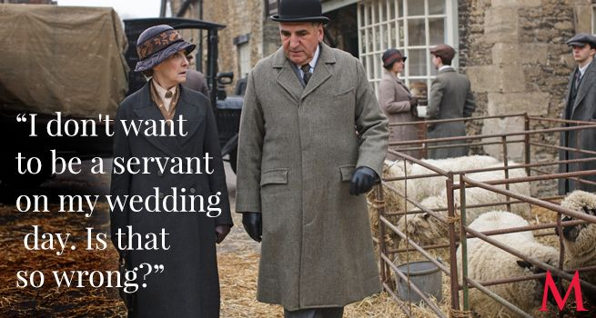 Downton Abbey Season 6 Episode 2 Best Quotes ..Phyllis Logan and Jim Carter ..