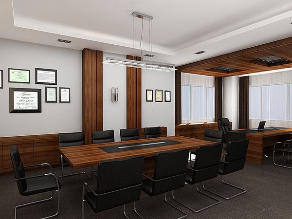 Executive director office conference room complete for Director office room design
