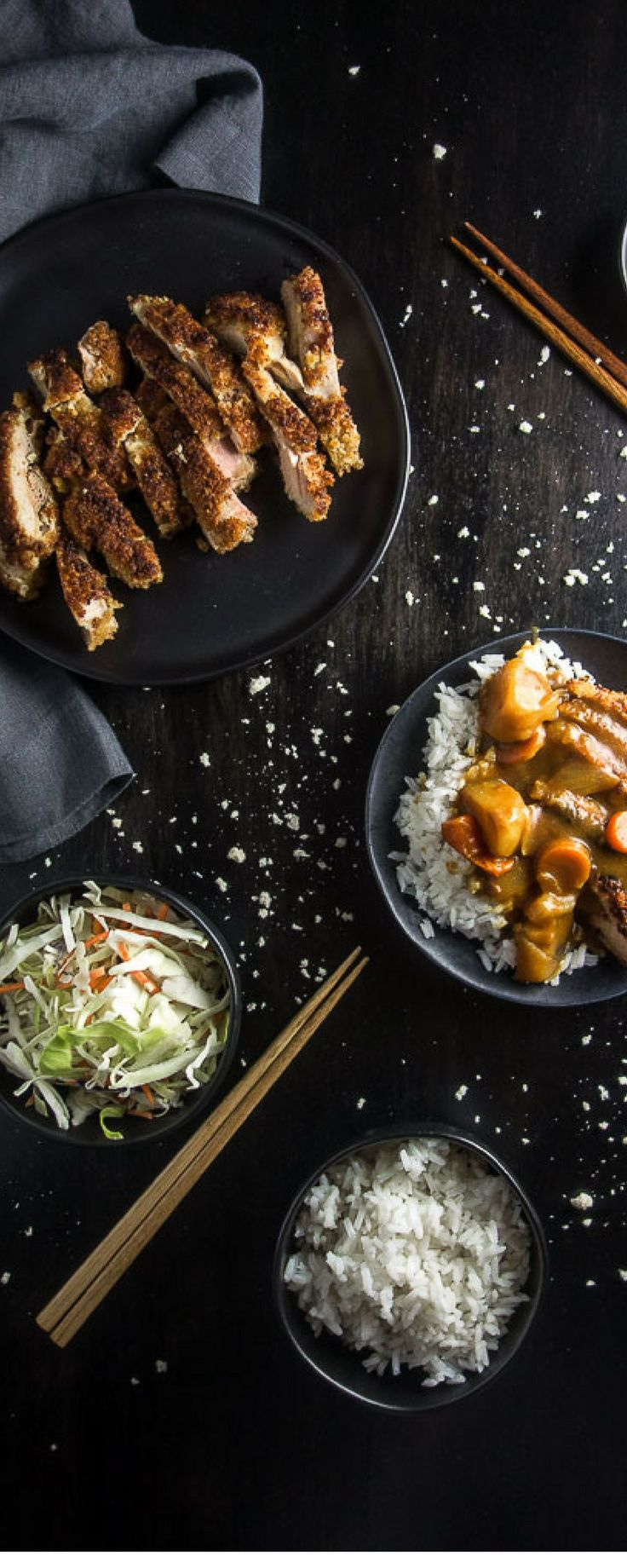 An awesome winter comfort food, this easy Chicken Katsu Curry Don is quick, easy and packed full of the most amazing flavors! Perfect to curl up with on a cold day! japanese katsu curry | easy japanese curry | easy katsu | japanese food | japanese comfort food | japanese chicken cutlet | japanese fried chicken | japanese curry sauce | the best curry recipe | sweet curry