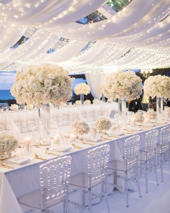 Luxury southern california all white wedding 26
