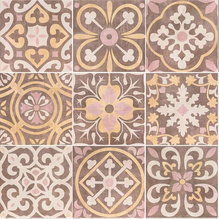 Carrelage Design Mural Mat Multicolore 20 X 20 Cm