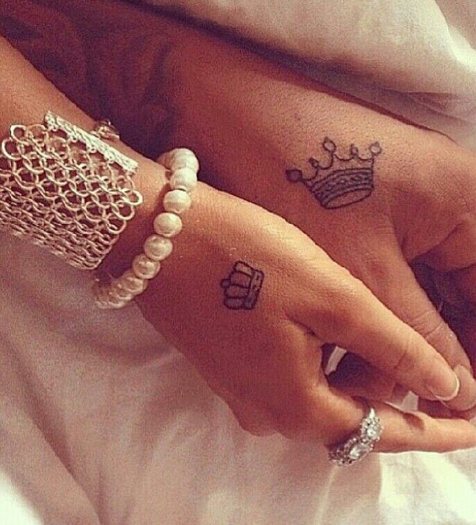 Partner tattoo crowns tattoolicious pinterest for Parents against tattoos