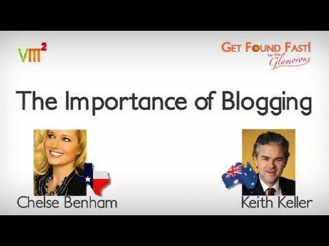 Importance of Blogging (Video)   #GetFoundTV #Blogging #Videos