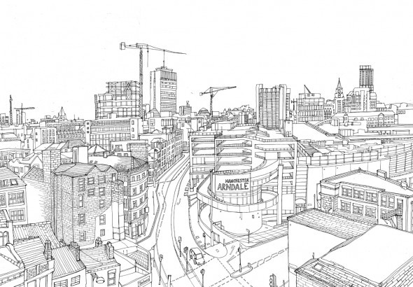 Line Drawing Tattoos London : Panoramic sketch architecture pinterest