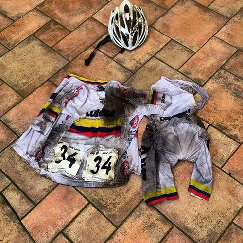 Proof that Rigoberto Uran had a tough day