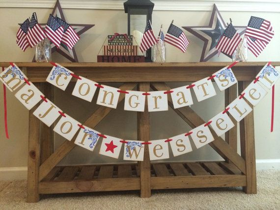 Military Promotion Party Garland Banner Custom by ArmyMOMOfTwins