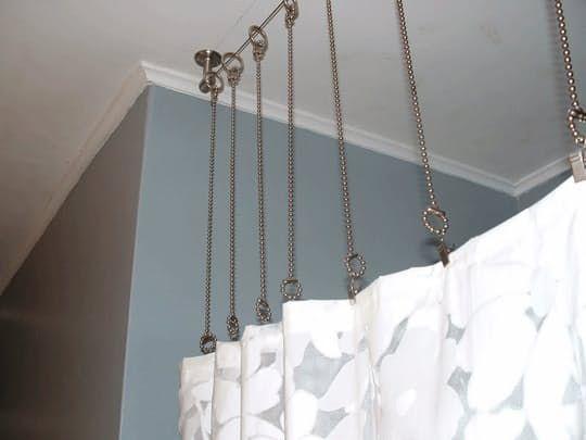 High Wire Act DIY Shower Curtain Rod Clawfoot tub