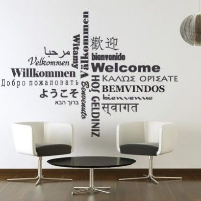 wall decor for office. Welcome Sticker - Moon Wall Stickers Decor For Office