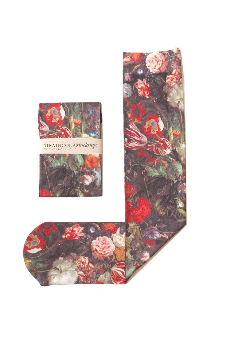 Strathcona'Golden Age' Print Trouser Socks