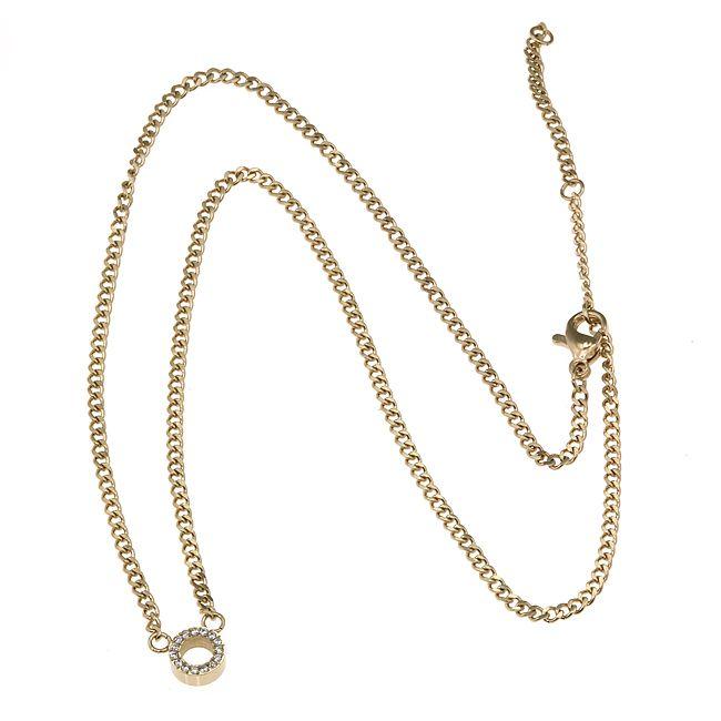 Ingnell Jewelley - Alva necklace single gold. Stainless steel. www.ingnelljewell.com