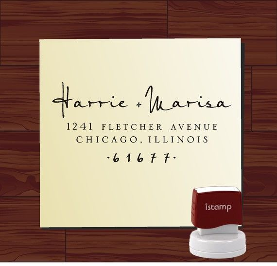 Custom  Return Address Stamp  - SELF INKING  - style 9013B-  personalized wedding or christmas gift