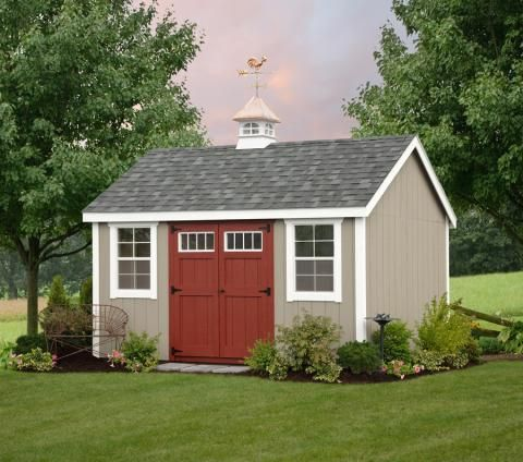 landscaping+around+vinyl+shed | Doors & Shutters: Avocado