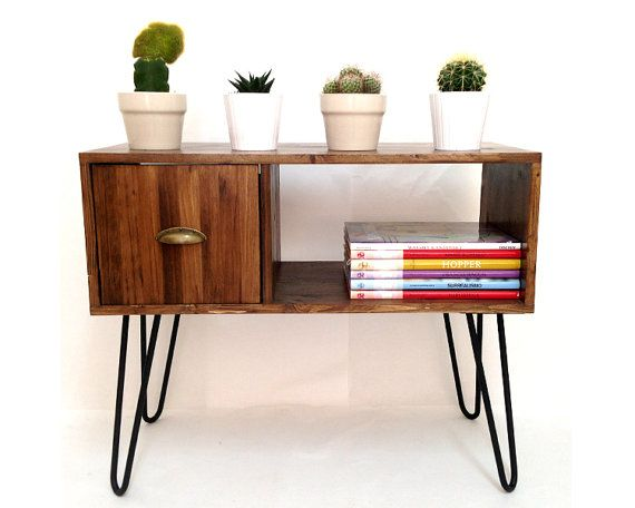 Vinyl Record Storage Console Table Mid by VintageHouseCoruna