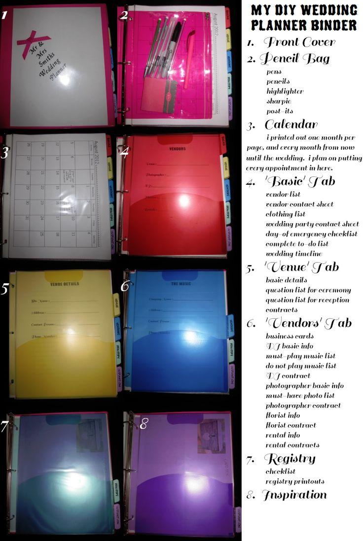 Best 25 Wedding planner binder ideas only on Pinterest Wedding